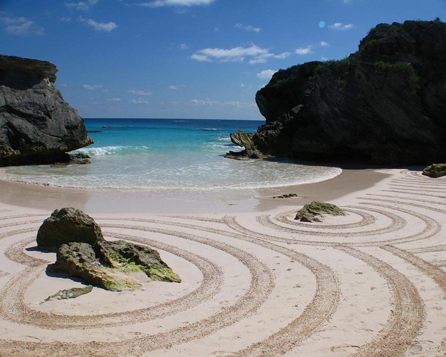 bermudes, bermudas, beach art, dougados, pink sand