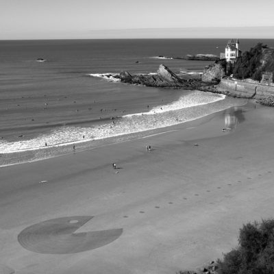 biarritz, beach art, dougados, pac man, arcade, video game, jeux vidéo,