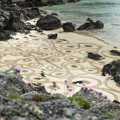 doodle, beach art, dougados, ireland, achill, keem beach
