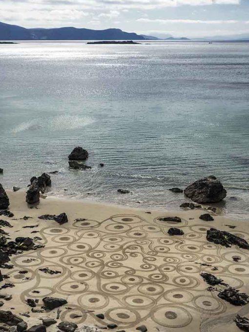 Achill island, irland, ireland, beach art, keem beach, dougados, doodle