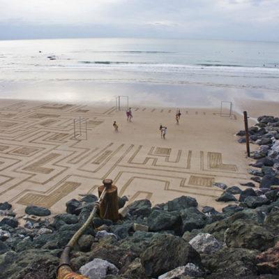 beach art, dougados, malandain, danse