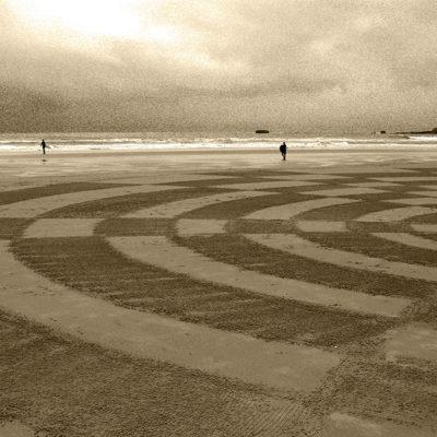 beach art, dougados, biarritz, bodyboard, surf, damier