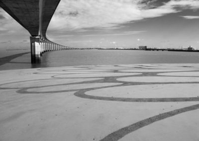 la rochelle, ile de ré, dougados, beach art, sand drawing, photographie, pont, bridge