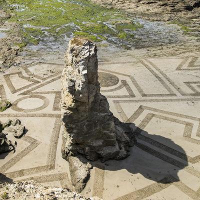 puzzle, Préfailles, dessin sur le sable, dougados