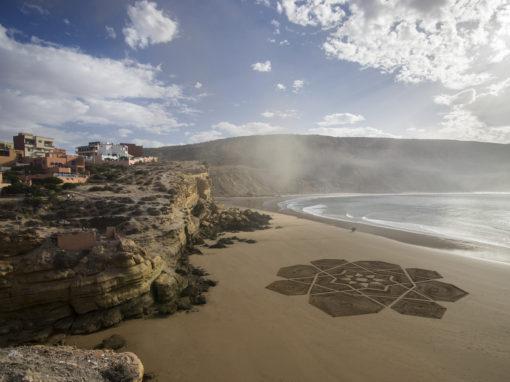 Maroc, Morocco, Imsouane, beach art, mandala, surf,
