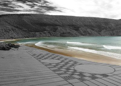 imsouane, maroc, damier, dougados, beach art