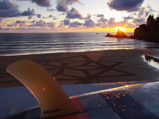 villa bleza, biarritz, cote des basque, beach art, dougados, sunset
