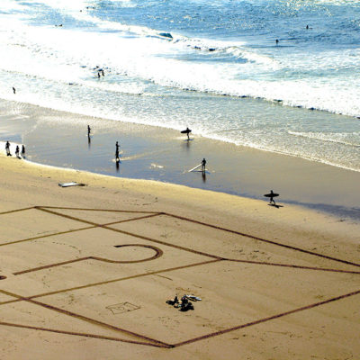 3D, beach art, dougados, biarritz