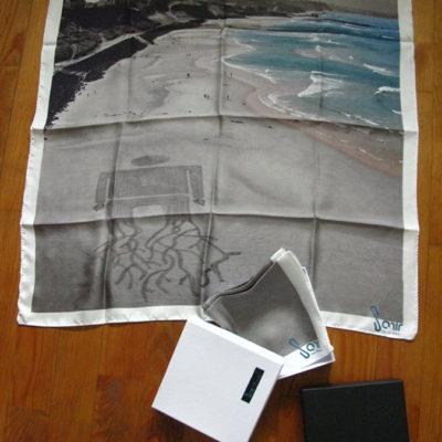 Foulard en soie, édition de 100 exemplaires, fabrication française