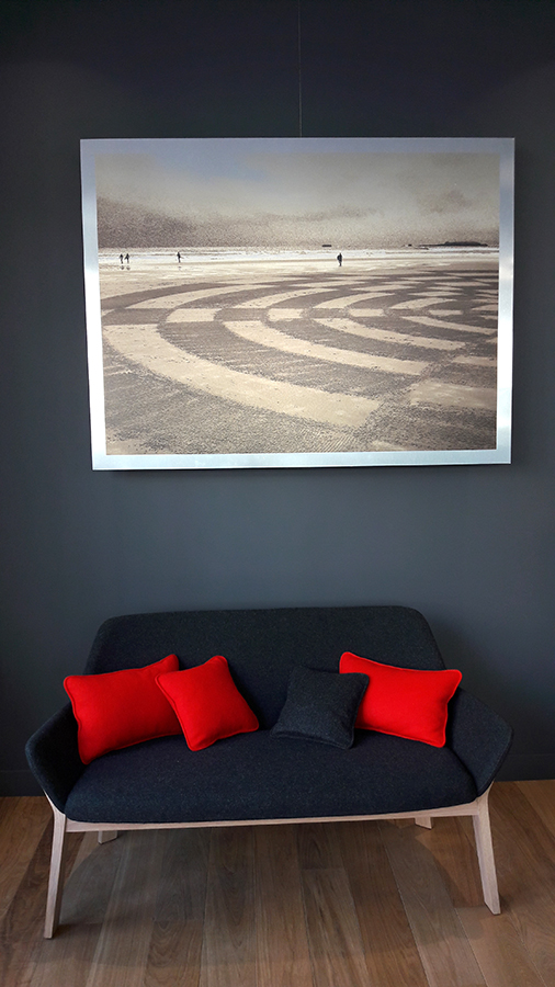 dougados, galerie d'art, beach art, dessin sur le sable