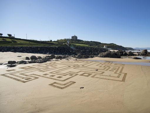 Ilbaritz, villa d'Epée, Milady, Biarritz, labyrinthe, dougados, dessin sur le sable