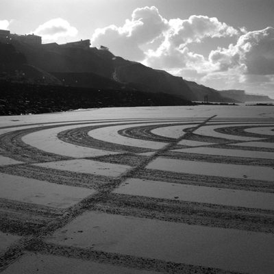 optic art, dougados, biarritz, beach art geometry