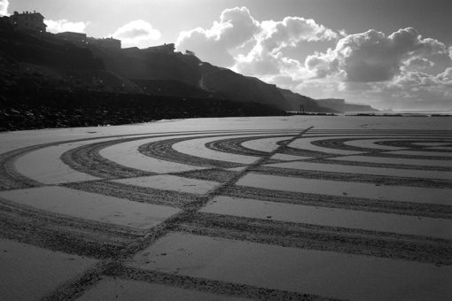 optic art, dougados, biarritz, beach art geometry
