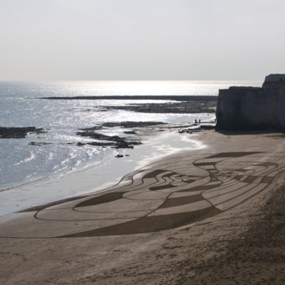 Margate, angleterre, dougados, beach art, sand drawin, target, bolywood