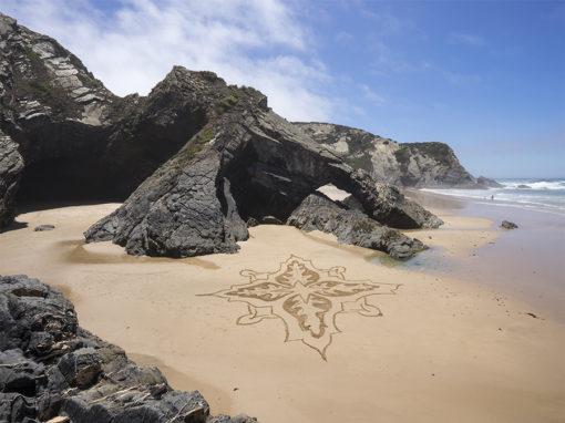 Odeicexe, portugal, beach art, sam dougados, azulejos