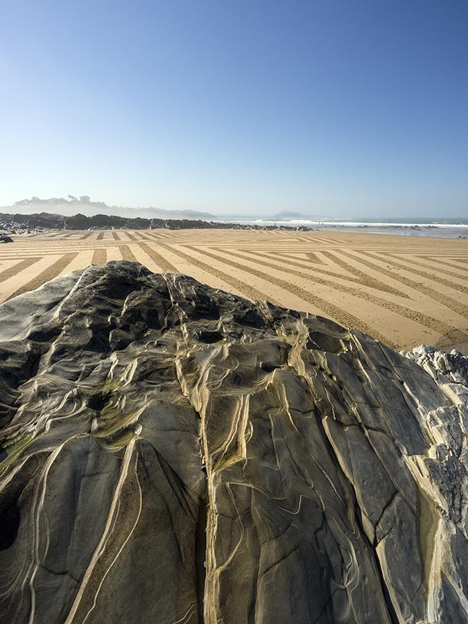bidart, beach art, dougados, rhune, fog, beach, ocean, photography