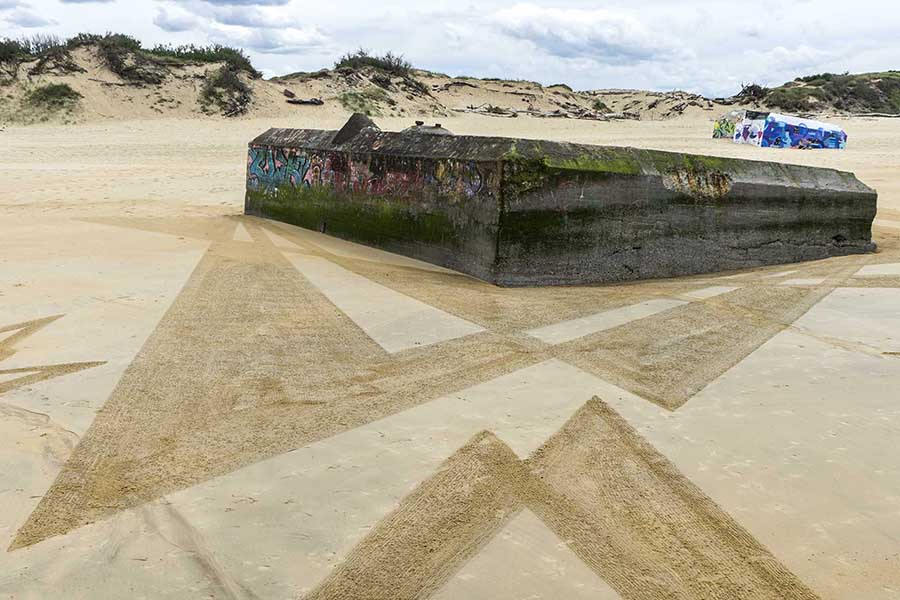 Capbreton, graffiti, dougados, beach art, blockhaus