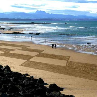 biarritz, côte des Basques, beach art, dougados, losanges, lignes, photography, art, land art