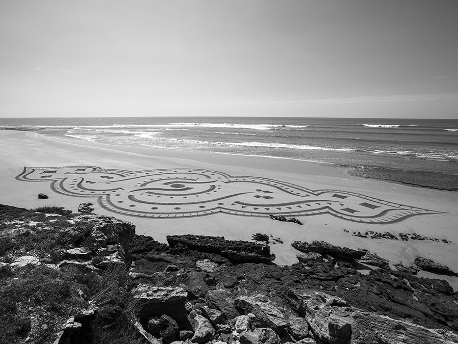 beach art, moulay, morocco