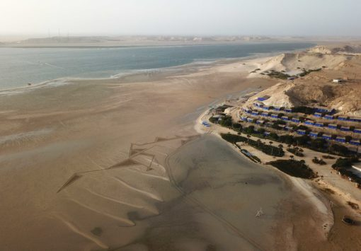 dakhla, laguine, maroc, beach art