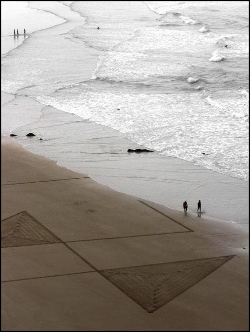 beach art, plage de Biarritz