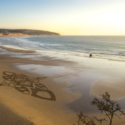 Maroc, Tafedna, Essaouira, beach art, dougados, plage,