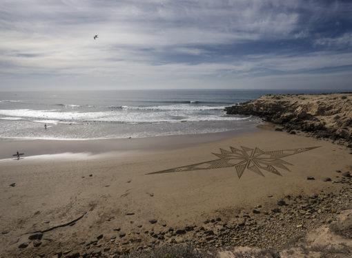 Maroc, beach art, Imsouane, gémotry