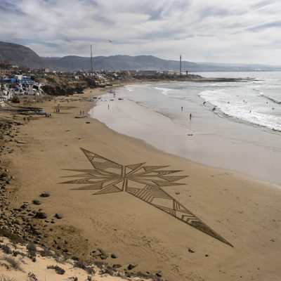 Maroc, beach art, Imsouane, gémotry