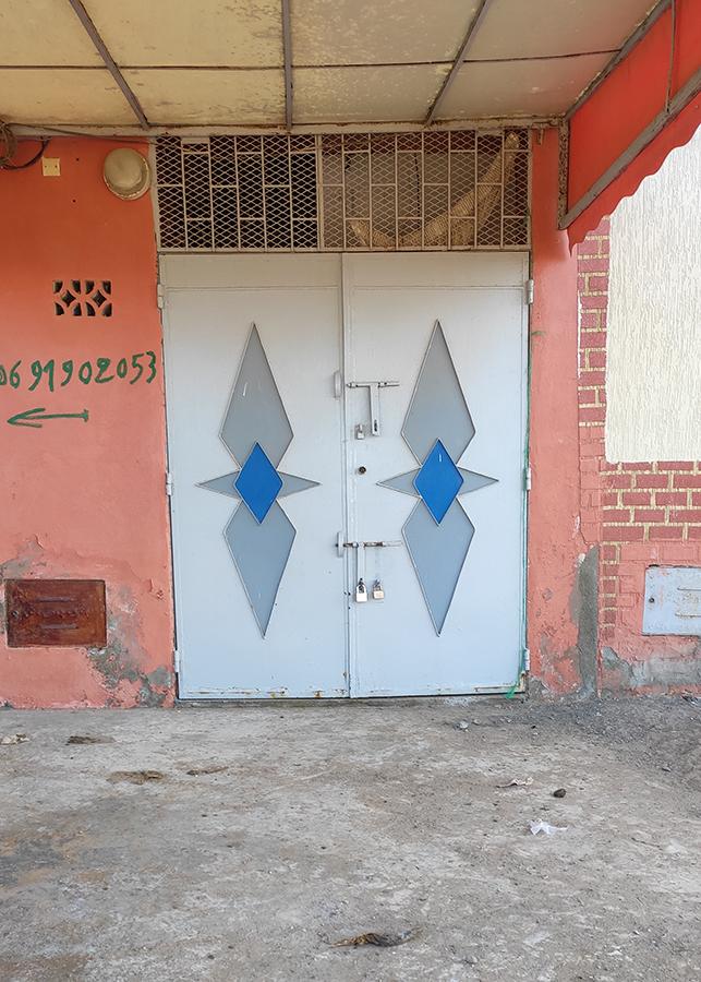 porte, maroc, motif géometrique, tafedna, losanges