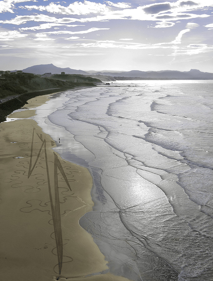 Biarritz, beach art, pays basque, Sam Dougados,